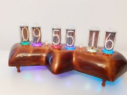 Nixie Reptile By Monjibox Mit In18 Largest Russian Tubes Rgb Leds Wi-fi Sync
