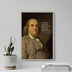 Benjamin Franklin Botox Quote Funny Humour Plastic Surgery Poster Art Print Gift