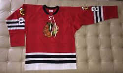 Chicago Blackhawks/stan Mikita Mitchell And Ness Durene Jersey N.o.s., Size 48