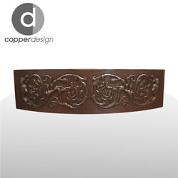 Copper Rounded Front Farmhouse Kitchen Sink Design02 33x22x9no Custom Duties