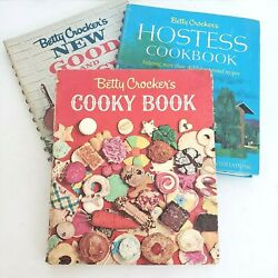 Betty Crocker Vintage1960s Cookbooks Lot Of 3 - Cooky, Hostess, New Good And Easy