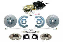 1964-66 Ford Mustang Front Power Disc Brake Conv Kit, Low Profile M/c, Xd Rotors