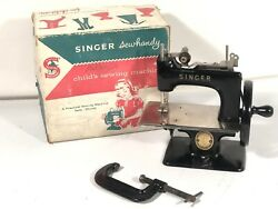 Singer Sewhandy Vintage Blk Model 20 Childs Sewing Machine Made In Great Britain