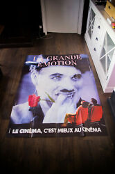 The Great Emotion Chaplin 4x6 Ft French Grande Original Movie Poster 1980and039s