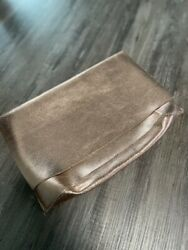 Anthropologie Fold Over Rose Gold Clutch Metallic $14.95