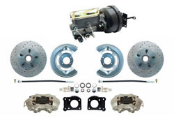1964-66 Ford Mustang Front Power Disc Brake Conv Kit Booster M/c Kit Xd Rotors