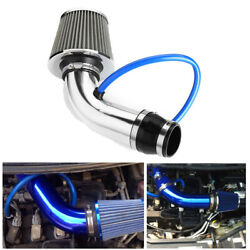 Universal 3 Car Cold Air Filter Clean Intake High Flow Short Pipe Hose System