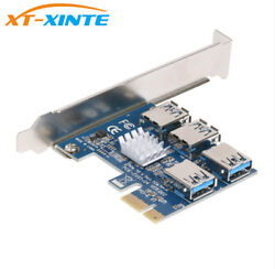 Pcie 1 To 4 Pci Express 16x Slots Riser Card Adapter Pci-e For Bitcoin Miner