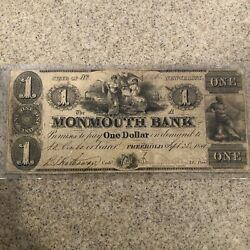 1841 Monmouth Bank Freehold Nj Obsolete Paper Money
