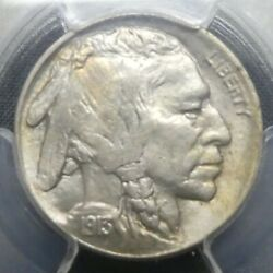 1913 D Type-2 5c Buffalo Nickel Five Cents Certified Pcgs Ms64 Us Mint Coin