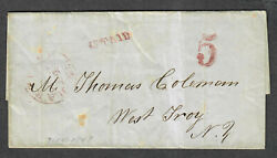 Us Stampless Cover Hartford Ct July 14 1848 Pointing Hand Magenta No Contents