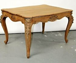 Antique Bleached Solid French Oak Louis Xv Dining Table Library Desk Sofa Table