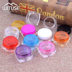 Small Empty Cosmetic Plastic Sample Containers Skin Caring Oil Jars Pot Set AFE C $4.95