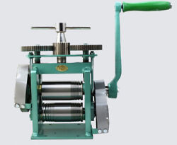 Manual Combination Jewelry Rolling Mill With Roll Size 123mm Jewelry Tool