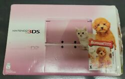 Nintendo 3ds Cib Pearl Pink Bundle Nintendogs + Cats Toy Poodle System Console