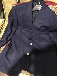 Awesome Tom Ford Fit D Peak Lapels Sport Coat Blazer Gold Buttons Size 42/52