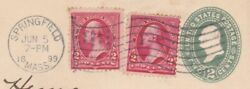 George Washington 1899 Stamp Cover - Springfield Mass To Germany