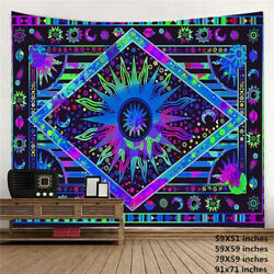 USA Psychedelic Mandala Tapestry Wall Hanging Trippy Tapestries Throws Decor