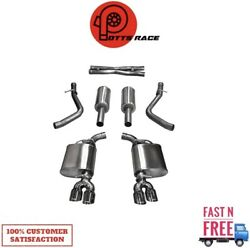 Corsa 14985 304 Ss Cat-back Exhaust System Quad Rear Exit For 11-17 Challenger