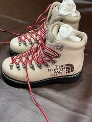 X Logo Ivory Combat Lace Up Snow Boots Nwt Womens 7.5