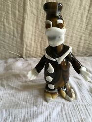 Vtg Murano Glass Disney Figurine Donald Duck One Of Kind Italy 8 In