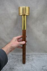 + Handheld Processional Torch, 5 Available + Brass And Wood Cu221 Chalice Co