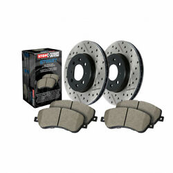 Stoptech For Bmw 328xi 2007 2008 Axle W/ Brake Rotors Drilled And Slotted
