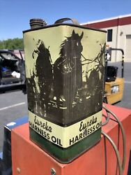 Very Graphic Eureka Harness Oil 1 Gallon Can Standard Oil Vintage