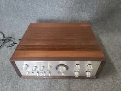 Kenwood Dc Stereo Integrated Amplifier Model Ka-7100 W/ Rare Factory Wood Case
