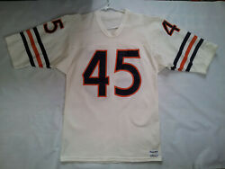 Vintage Rare Made In Usa Sand Knit 80's Chigago Bears 45 Fencik Jersey Size M