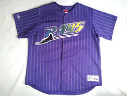 Vtg Rare Made In Usa Majestic Tampa Bay Devil Rays Purple Jersey Size In Size Xl