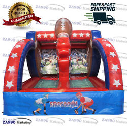 16x13ft Inflatable American Football Toss Carnival Sport Game With Air Blower