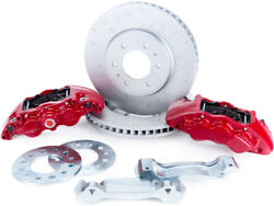 Alcon For 2010+ Ford F-150 347x36mm Rotors 6-piston Red Front Brake Kit