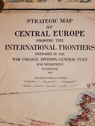 1917 Wwi Militaria Strategic Maps Of Central Europe Military History Invasion Us