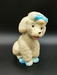 Vintage White Poodle Rubber Squeaker Toy Hong Kong