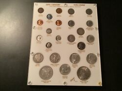 20th Century Type Coin Set Capital Holder 24 Coins