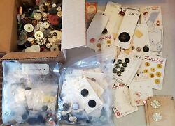 Vintage Lot Of Estate Sale Find Buttons Over 3 Lbs Unsorted