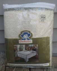 Nos Vintage Quaker Lace Tablecloth Westminster Oblong 70 X 126 44377 Ivory