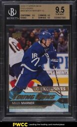2016 Upper Deck Exclusives Young Guns Mitch Marner Rookie Rc /100 468 Bgs 9.5