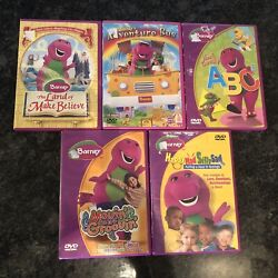 Barney Dvd Bundle Lot Of 5 Fast Shipping