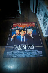 Wall Street 4x6 Ft Vintage French Grande Movie Poster Original 1987