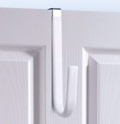Over Door Hookwhite-4packsoft Rubber Surface Design To Prevent Article Scratches
