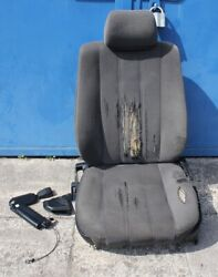 Bmw E34 Front Seat Cloth Anthrazit Lumbar Wiring And Switch Left Driver Side Oem