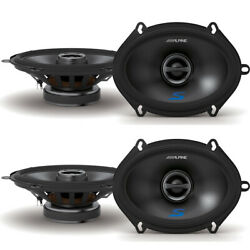 Alpine 2 Pack S-s57 S Series 5x7 Inch Coaxial 2 Way 230 Watts Car Speakers