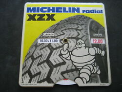 Disk Timetable Tyres Michelin. Year 1978