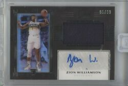 Zion Williamson 2019-20 Panini One And One Rpa Jersey Patch Auto Rc 85/99