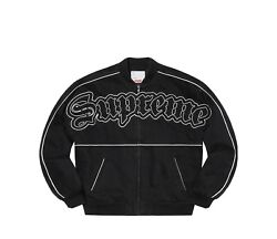 Supreme Twill Old English Varsity Jacket Ss21 Black Size Xl Sold Out On Hand