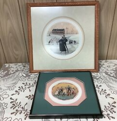 Buckley Moss Members Only Le Framed Prints, Lot Of 2 - Love And Joy And Arm In Arm