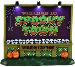 Lemax 2020 Spooky Town Sign 04710 Nrfp Spookytown Lighted Halloween Accessory