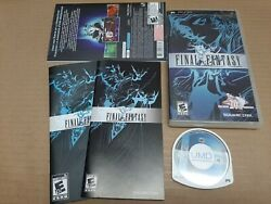Final Fantasy Sony Psp, 2007 English And French Cover Art And Manual Included